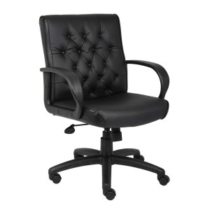 Boss-black-leather-large-office-chair