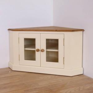 solid pine painted tv plasma corner unit
