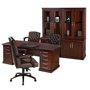 Cordia Double Pedestal Desk with Wall Unit  67707.1376477491