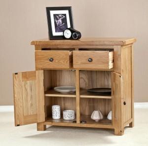 solid oak small cotswold side board rmdb2-2 door 2 drawer sideboard 3